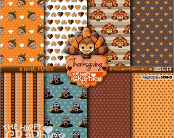 Thanksgiving Digital Paper, 80%OFF, COMMERCIAL USE, Thanksgiving Printable, Thanksgiving Party, Thanksgiving Celebration, Pattern