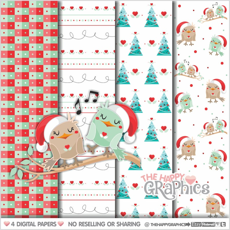 Christmas Digital Paper COMMERCIAL USE Christmas Pattern image 0