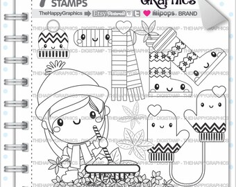 Autumn Stamp, 80%OFF, COMMERCIAL USE, Digi Stamp, Digital Image, Autumn Digistamp, Kawaii Stamps, Autumn Digital Stamps, Fall Stamp, Leave