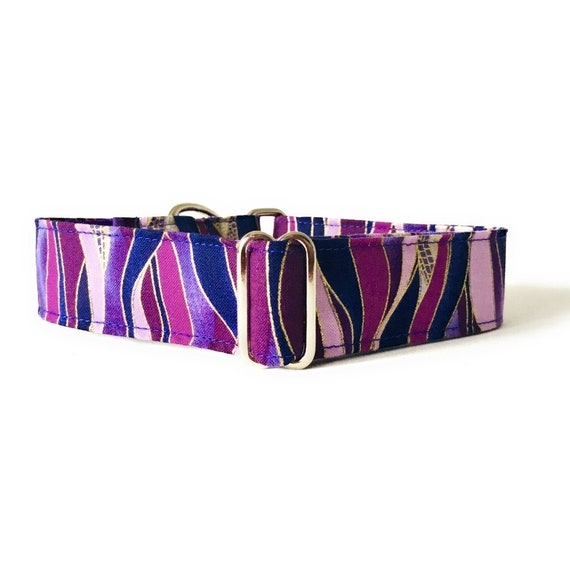 Optional matching leash Martingale Dog Collar for greyhound and other breeds Pink Tulip 4GUAUS