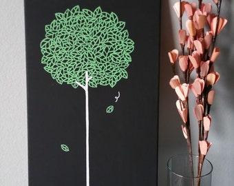 Bunny Tree Canvas Illustration