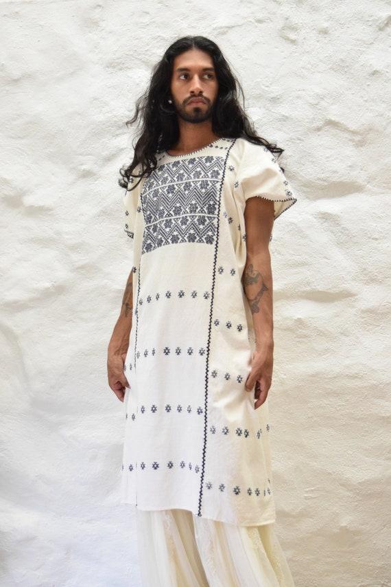 Vintage Mexican Amuzgo Huipil.  Mexican Woven Dre… - image 5
