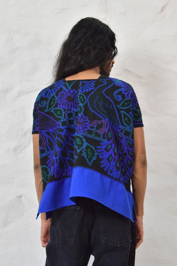 Embroidered Mexican Blouse. Mexican Huipil. - image 3