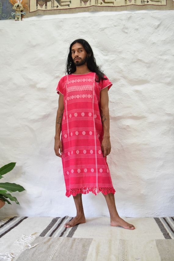 Vintage Mexican Amuzgo Huipil.  Mexican Woven Dres