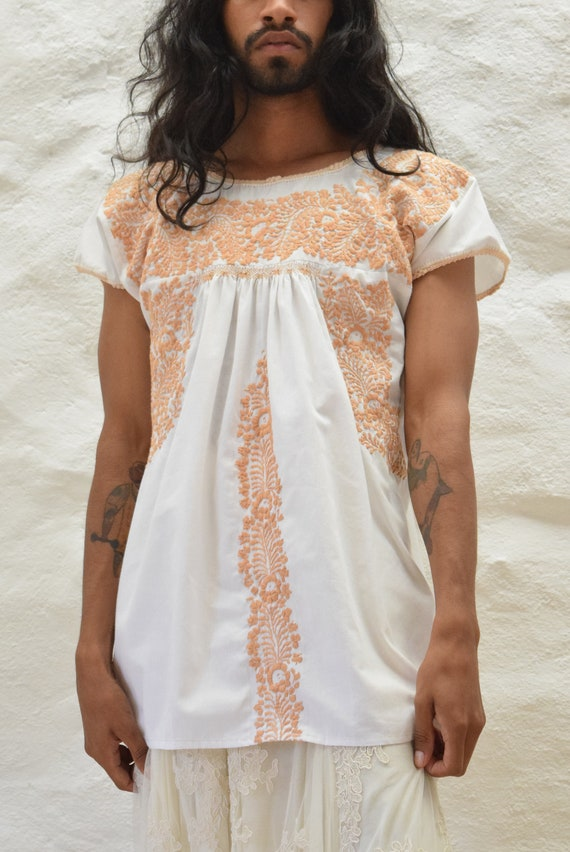 Vintage Mexican Blouse. Embroidered Blouse