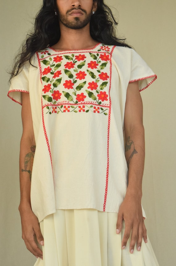 Mexican Blouse. Embroidered Blouse.
