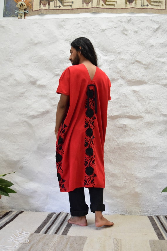 Mexican Embroidered Dress. Mexican Huipil - image 4