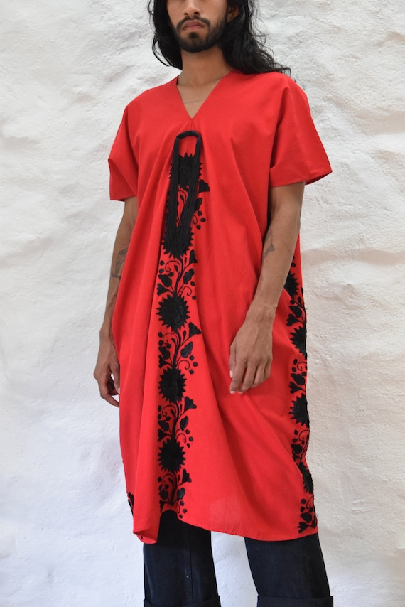 Mexican Embroidered Dress. Mexican Huipil - image 9