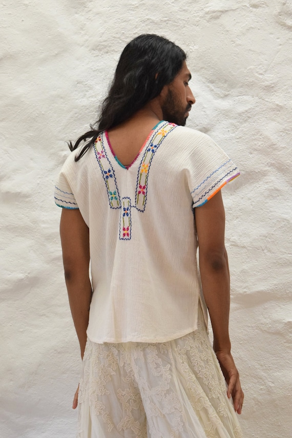 Vintage Hand Embroidered Blouse.