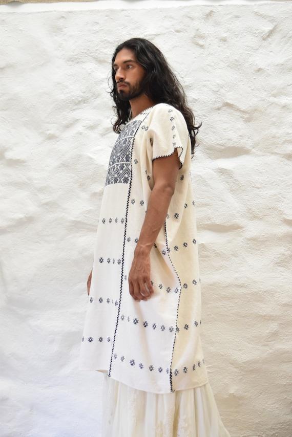 Vintage Mexican Amuzgo Huipil.  Mexican Woven Dre… - image 3
