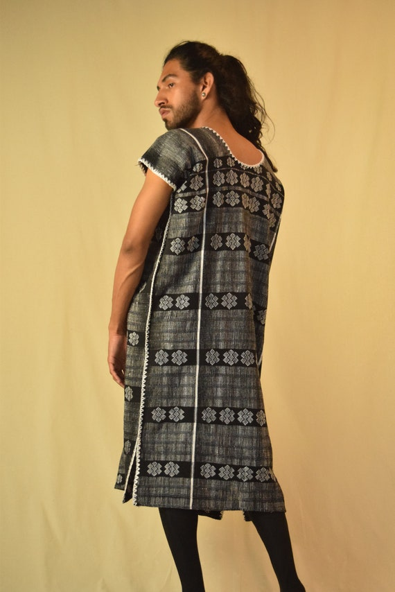 Vintage Mexican Huipil Woven Dress