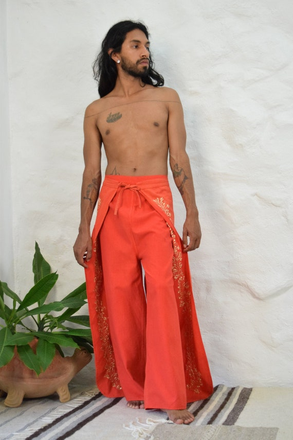Hand Embroidered Wrap Pant