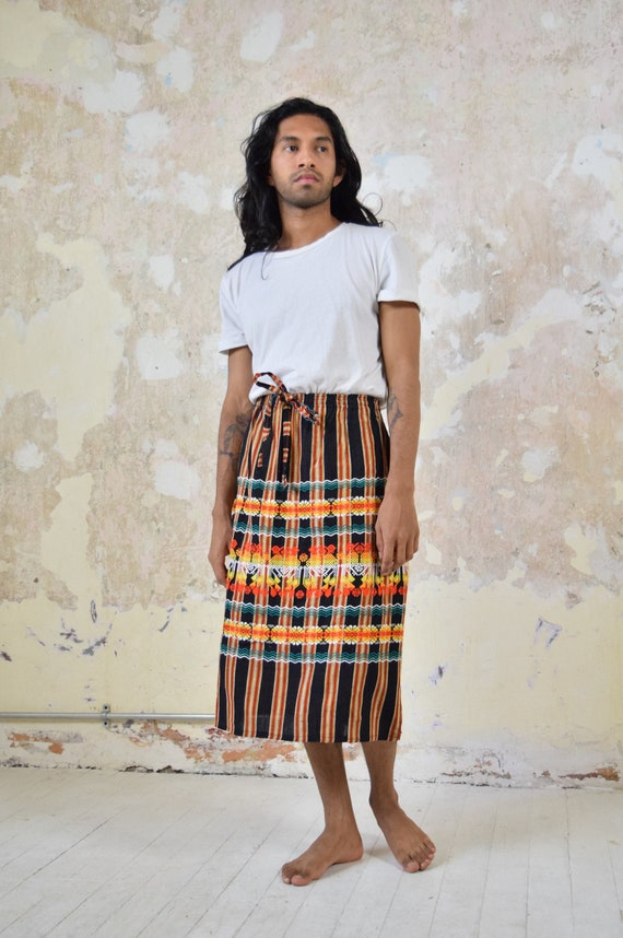 Vintage Mexican Skirt. Woven Skirt