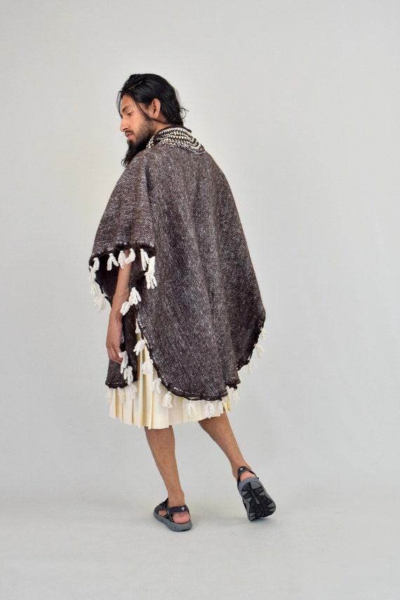 Mexican Poncho. Woven Mexican. Mexican Cape. Embro
