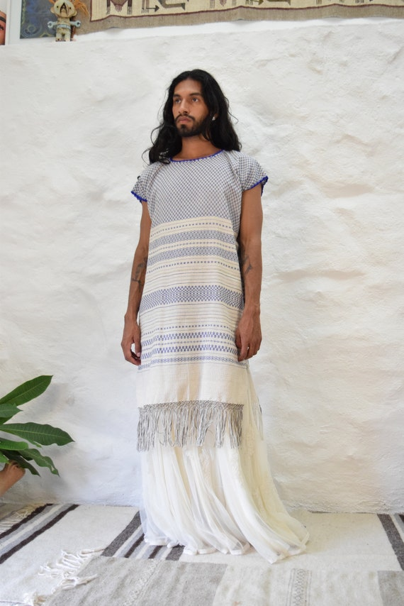 Mexican Woven Huipil Dress