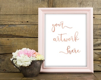 Frame Mockup, Photo Mockup, Floral frame, Stock Photography, Real Photos, Photography Mockup, 8x10 frame, Pink Frame, Instant Download,