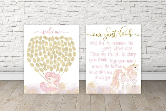 Guestbook Baby Shower Unicorn Baby Shower Guest Book Ideas Etsy