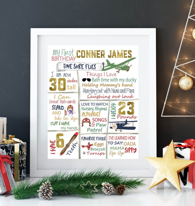 Airplane, First birthday, Aviation, birthday poster, Airplane birthday,  Birthday facts, Personalized, Party printables, Custom, Plane