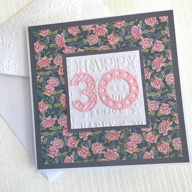 30th Birthday Card Handmade 30th Birthday Card Card For Etsy