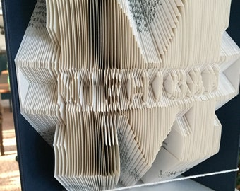 MICHIGAN UNIVERSITY book folding pattern - Michigan University logo book art. Instant Download pattern. Full instructions. Very easy