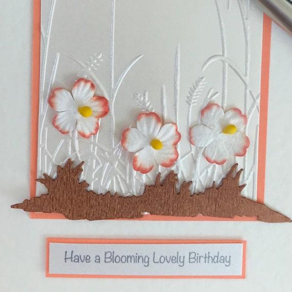 Fleurs Jolie Carte Danniversaire Avec Des Fleurs Orange Fait à La