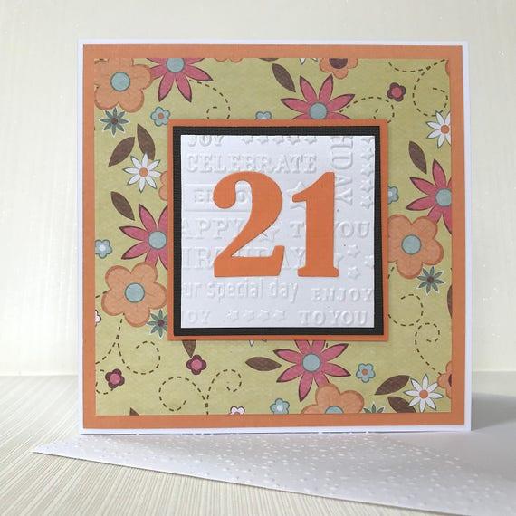 21st Birthday Card Handmade 21st Birthday Card Card For Etsy