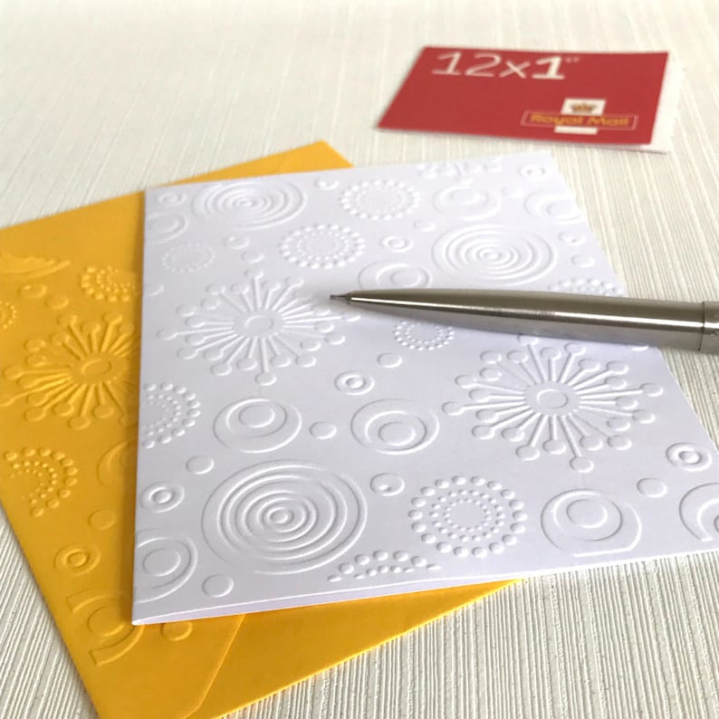 Retro Circles Cards  Pack of 6 Blank Note Cards With image 0