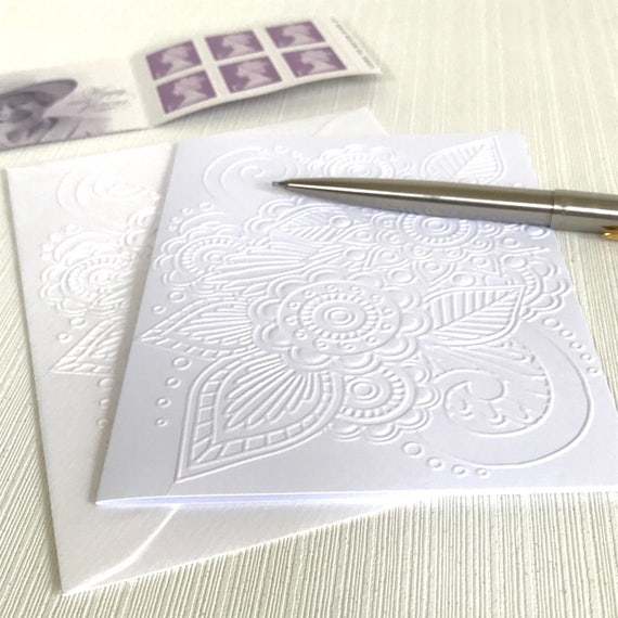 Bubbles Cards Greeting Cards Handmade Cards Stationery Gift for Her Embossed Stationery Pack of 6 Blank Note Cards With Envelopes