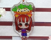 Acrylic keychain Daisy Mae, Animal Crossing