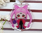 Acrylic keychain Black Lady, Sailor Moon, Magical girl