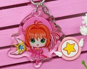 Acrylic keychain Sakura card captor, magical girl