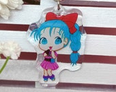 Acrylic keychain Bulma, Dragon Ball