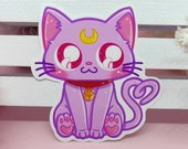 Sticker Waterproof Vinyl Diana, cat Sailor Moon, Kitty