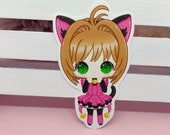 Sticker Waterproof Vinyl Sakura Card Captor, kitty dress