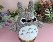 Amigurumi Totoro, decoración, plushie , Ghibli kawaii