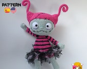 Pattern Amigurumi Zombirina PDF TUTORIAL - Crochet PATTERN Zombirina