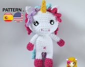 Pattern Amigurumi Unicornio PDF TUTORIAL, Crochet PATTERN unicorn