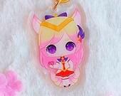 Acrylic keychain Ahri, Star Guardian, Magical Girl, League of Legends, with glitter, brillibrilli, aesthetic, Acrylic Charm