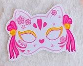 Sticker Waterproof Vinyl Sakura Mask fox, vinyl sticker kawaii Galen.draws