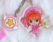 Acrylic keychain Card Captor Sakura, Magical Girl, aesthetic, acrylic charm
