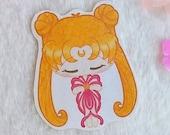 Holographic Sticker Sailor Moon Waterproof Vinyl, transformation, Usagi Tsukino, Bunny, Moon Prism Power, Make Up Galen.Draws, Moonie