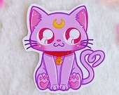 Sticker Waterproof Vinyl Diana, cat Sailor Moon, Kitty, Moonie Galen.Draws