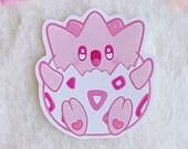 Sticker Waterproof Vinyl Pink Monster kawaii Galen.Draws