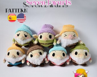 Pattern Amigurumi Dwarfs of Snowfwhite PDF TUTORIAL - Crochet PATTERN Dwarfs