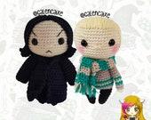 Pack 2 Crochet Pattern Draco Malfoy Severus Snape, PDF Crochet Pattern, Tutorial amigurumi, doll