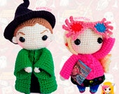 Pack 2 Crochet Pattern Minerva McGonagall and Luna Lovegood, PDF Crochet Pattern, Tutorial amigurumi, doll