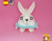 Pattern Amigurumi White Rabbit PDF TUTORIAL - Crochet PATTERN White Rabbit of Alice in Wonderland
