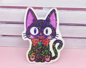 Holographic Sticker Waterproof Vinyl Jiji, Cat of Kiki delivery service