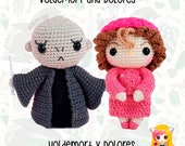 Pack 2 Crochet Pattern Lord Voldemort and Dolores Umbridge, PDF Crochet Pattern, Tutorial amigurumi, doll