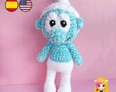 Pattern crochet Smurf - Amigurumi PDF TUTORIAL - Crochet PATTERN